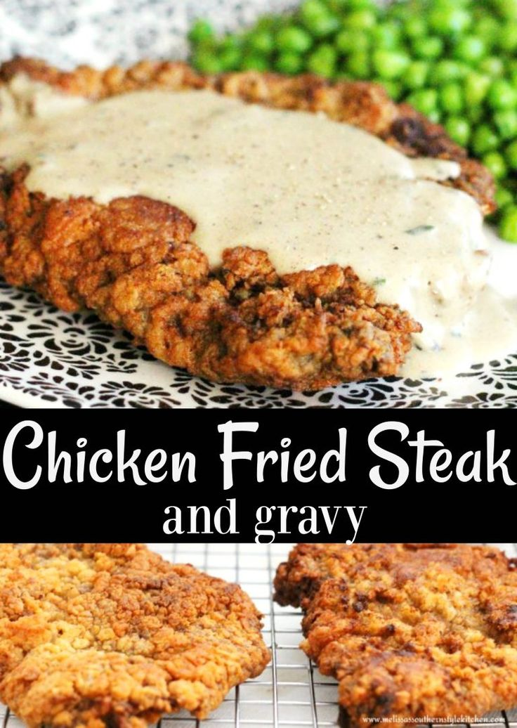 Chicken Fried Steak And Gravy(Fried Food Recipes)