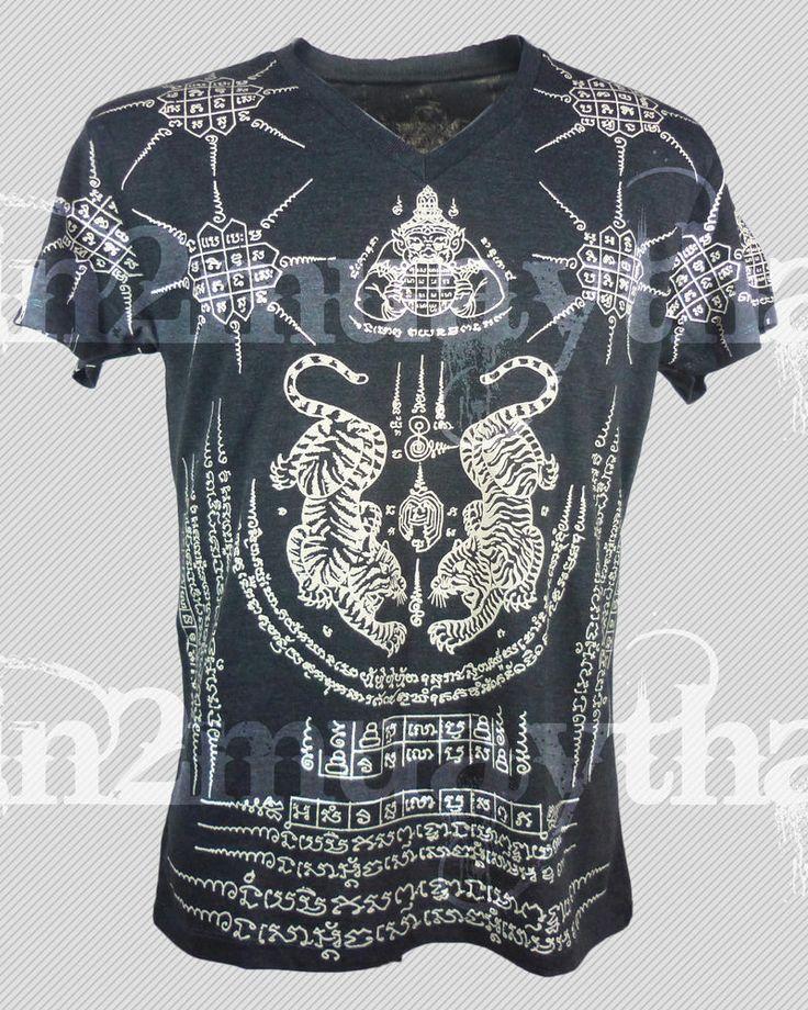 MMA K1 Muay Thai Kick Boxing Thailand Tiger Sak Yant Thai Tattoo T-Shirt