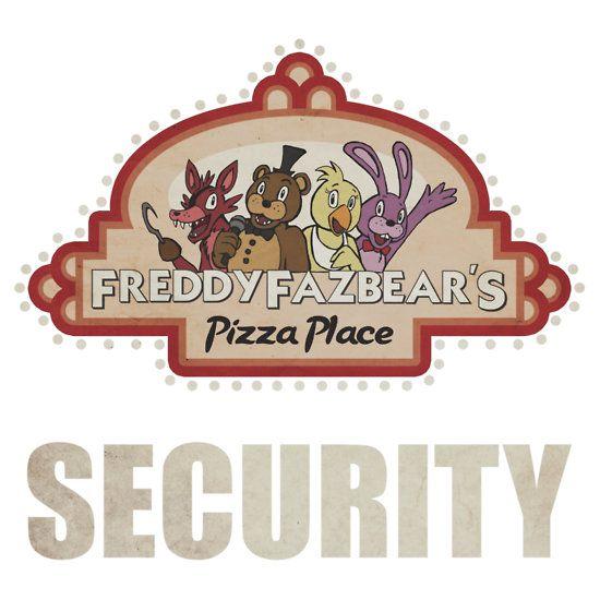 Freddy fazbear s security logo unisex t shirt security logo pizza logo