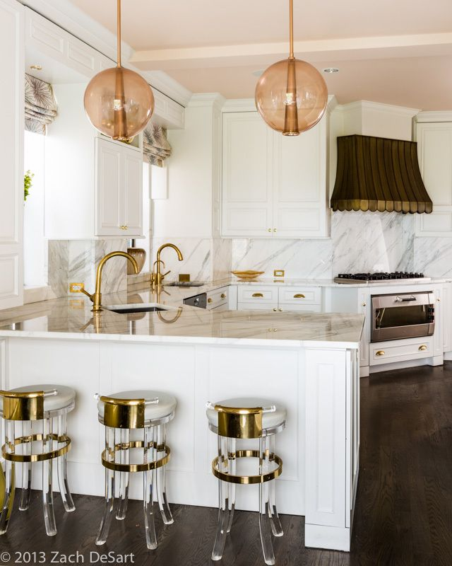 Hollywood regency kitchen  by Kemble Interiors