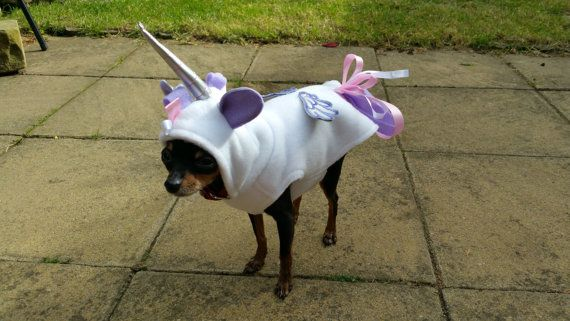 Small Dog Clothes Unicorn Costume halloween outfit Puppy Clothes ...