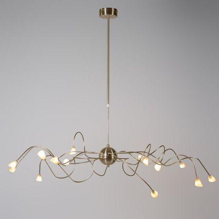 Lampa wisząca Calamaro 15 brąz