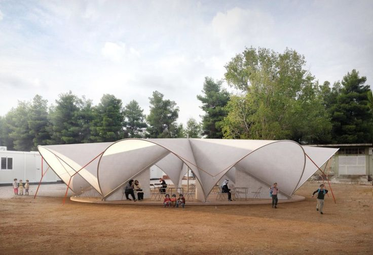 Maidan tent aims to improve life in refugee camps with pop-up public space