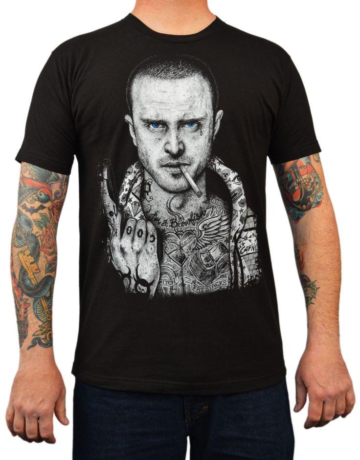 Men's Pinkman by Wayne Maguire Jesse Breaking Bad Tattoo Art T Shirt