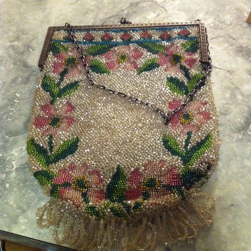 Antique Vintage Beaded Bag | eBay