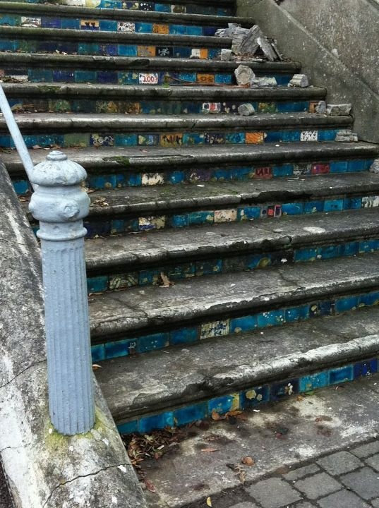Stairs in Cobh, Ireland. By Emily Flannes Johnson
