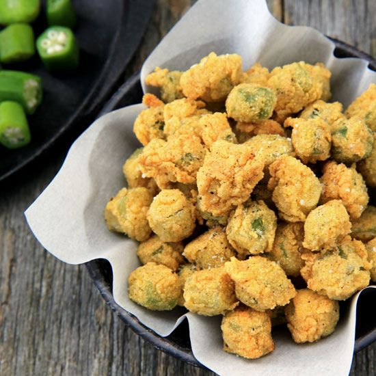 Lightly fried okra poppers give you the veggie's fiber and vitamin-packed benefits in a tasty treat! - Everyday Dishes & DIY