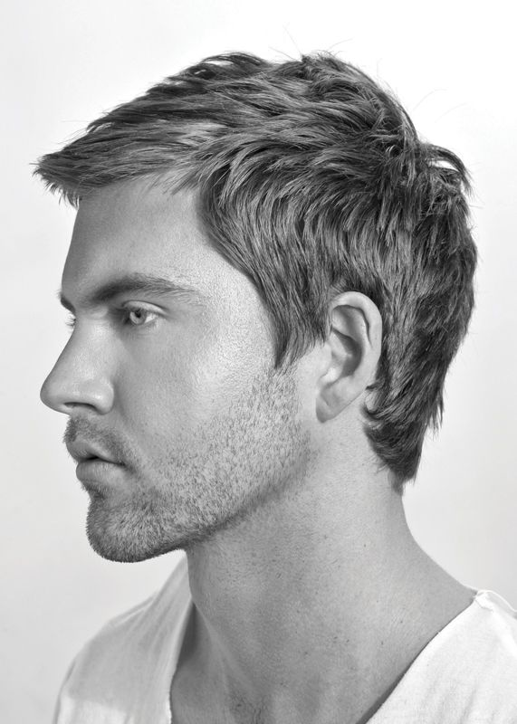 Men's modern hairstyle