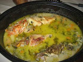 Ψαρόσουπα 1 κιλό ψάρια για σούπα 2 πατάτες 2 καρότα 1 μικρό σέλινο 1 ξερό κρεμμύδι 1 πράσο 3 κρεμμυδάκια φρέσκα 1 κ,σ...
