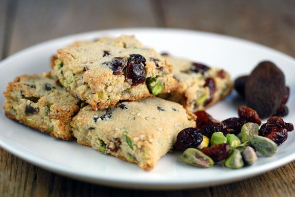 High fibre meals: Gluten free muesli scones with dried fruit and nuts - elana's pantry