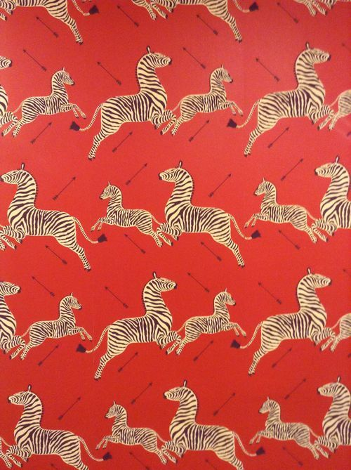 Scalamandre wallpaper with arrows from the Royal Tenenbaums. I am feeling very compelled to use this arrow