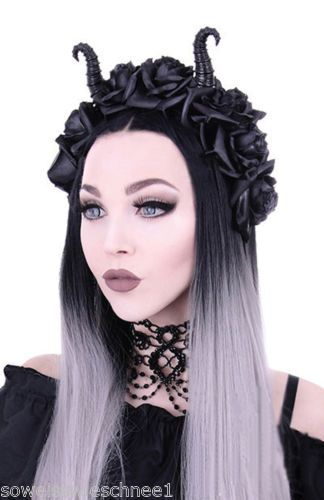 Restyle-Gothic-Headpiece-Maleficent-Hoerner-Headdress-Haarschmuck-Haarreifen-Hut