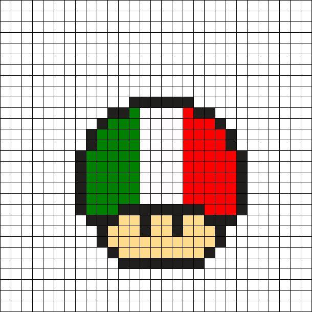 Italy Mushroom Perler Bead Pattern