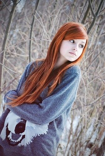 i want straight red hair like hers