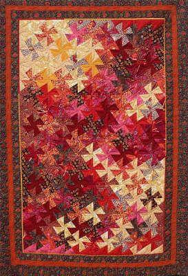 Quilthühner - für Lisa zum 60. Geburtstag - @ Patchwork + Quilt - http://www.patchwork-quilt.net/Galerie/Quilthuhner/Quissen/quissen_0.html - Twister quilt