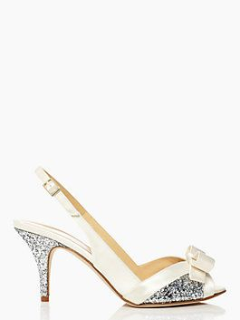 Charming So Cute, Kate Spade Wedding Shoes With A Bit Of Bling. Only 2.75 Inches