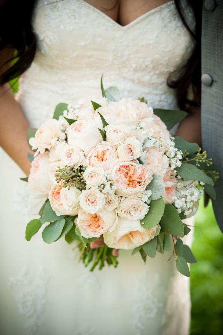 Flowers by shirley garden rose bouquets - Peach Garden Rose Bridal Bouquet