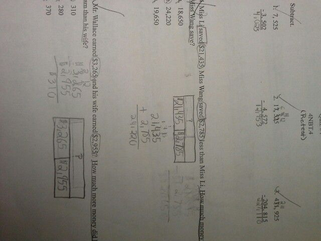 My 4th Grade Student U0026 39 S Math Test And Perfect Use Of The