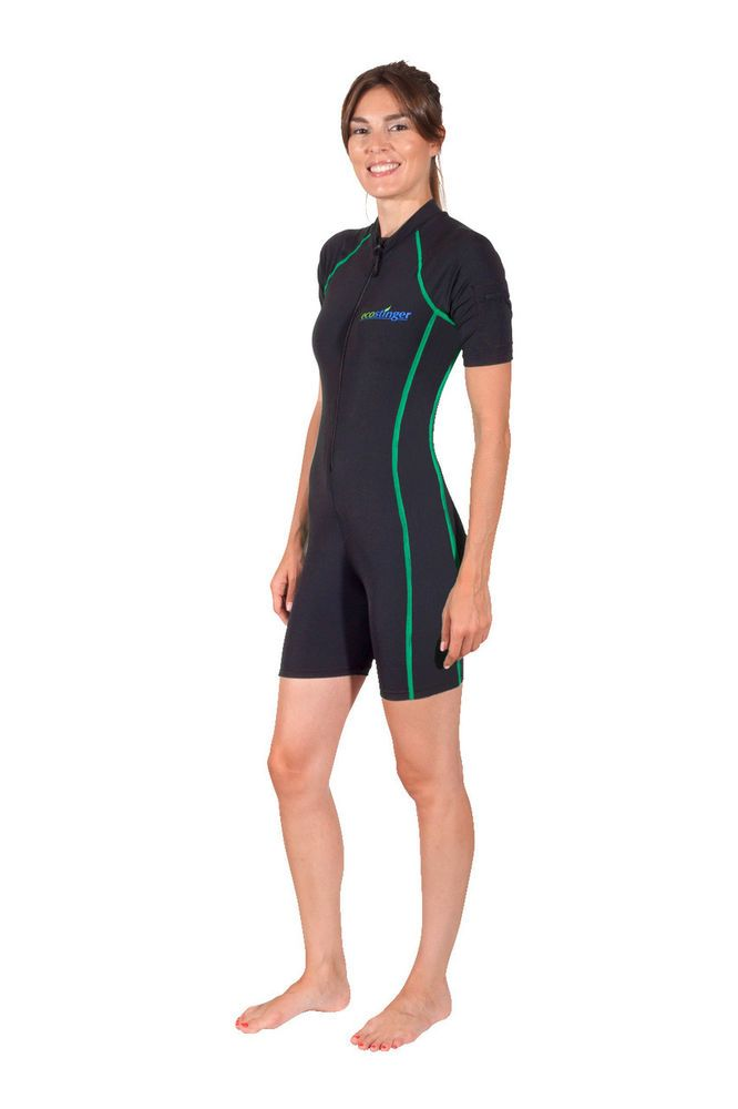 CHLORINE RESISTANT SUNSUIT WITH SHORT SLEEVES AND POCKET FOR WOMEN PERFECT FIT   #ECOSTINGER #Swimdress