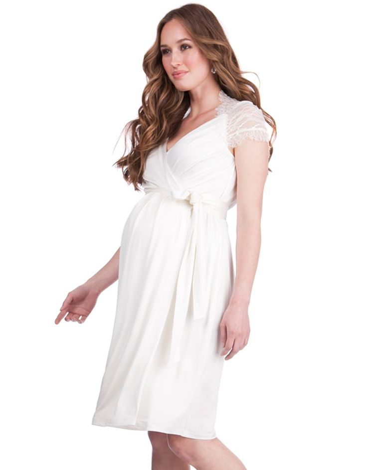 A beautiful addition to the Seraphine collection, the White Lace Detail Wrap Maternity Dress offers a flattering fit throughout pregnancy and after. A stylish crossover v neckline gives way to a glamorous lace back with feminine cap sleeves to complete the look. The chic a-line skirt drapes beautifully over your curves, while the classic wrap design defines your empire waist and offers a flexible fit before, during and after pregnancy. A stunning option for a party, wedding, baby shower or…