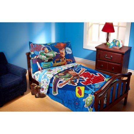 Disney Toy Story Fly to Infinity 4-Piece Toddler Bedding Set, Multicolor