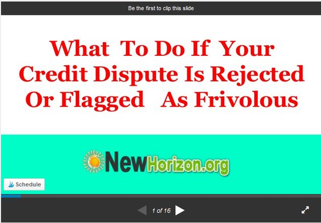 What To Do When Your Credit Dispute's Marked As Frivolous?