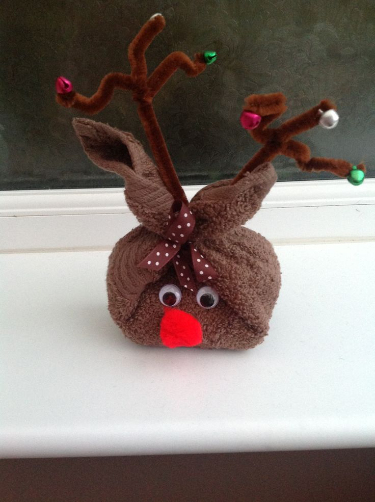 reindeer face cloth amp soap christmas pinterest
