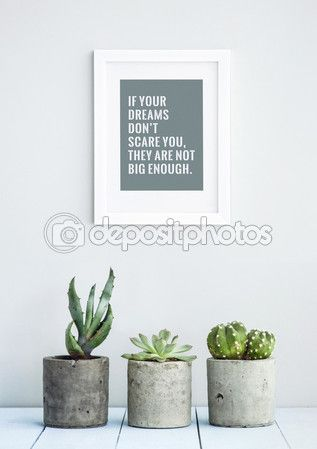 MOTIVATIONAL POSTER WITH SUCCULENTS — Stock Image #62635885