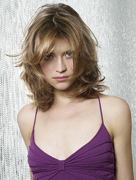 Modele de coupe de cheveux mi long dégradé                                                                                                                                                                                 Plus