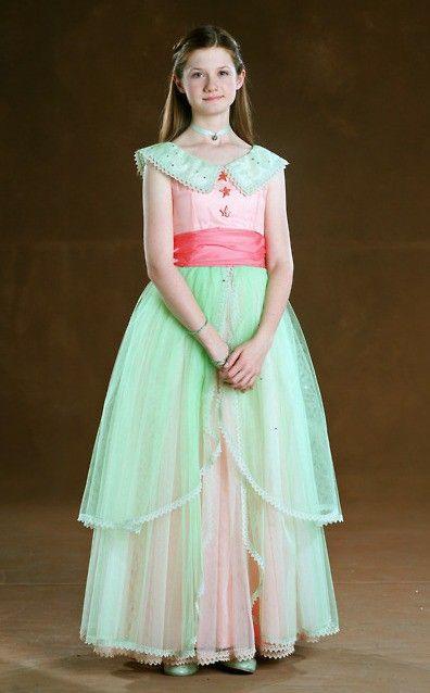 Ginny Weasley In Her Yule Ball Dress Harry Potter In