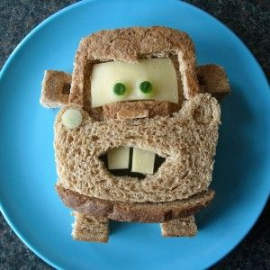 kids would crack upIdeas, Towing Mater, For Kids, Sons, Lunches Boxes, Disney Cars, Little Boys, Mater Sandwiches, Kids Food