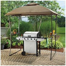 Domed Top Grill Gazebo with Shelves from Big Lots $119.99u003e : big lots gazebo canopy - memphite.com