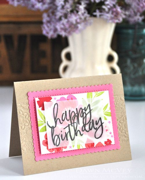 Happy Birthday Card by Dawn McVey for Papertrey Ink (April 2017)
