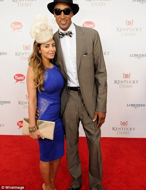 Basketball player Scottie Pippen (right) and wife Larsa Pippen (left)