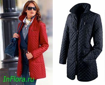 Женское стеганое черное пальто из искусственной кожи и меха eb1