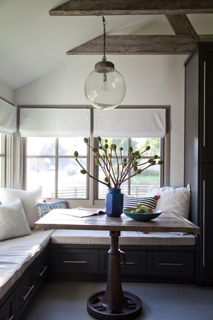 【包まれ感と開放感】キッチン脇のコーナーのコンパクトなダイニング | 住宅デザイン