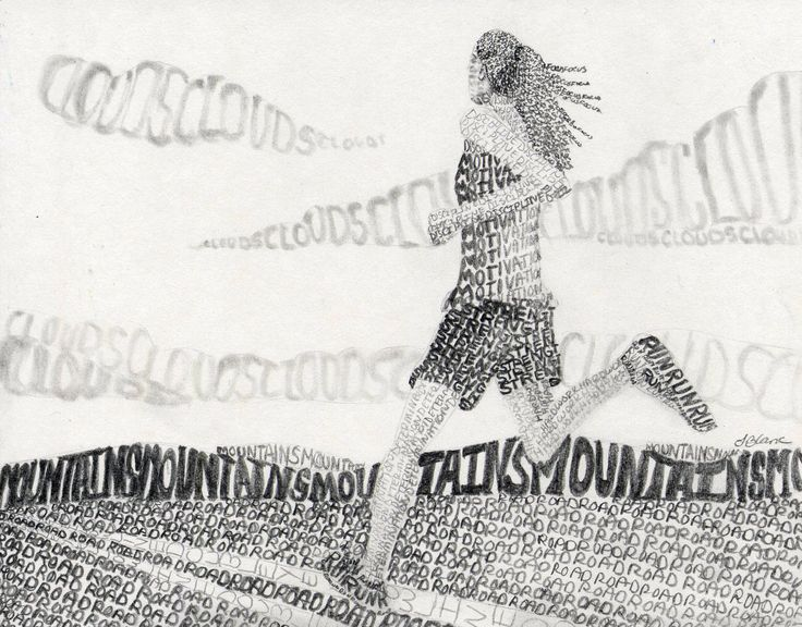 """Words as Value"" Drawing Example for my High School Art Class.- By Sandy Blanc"