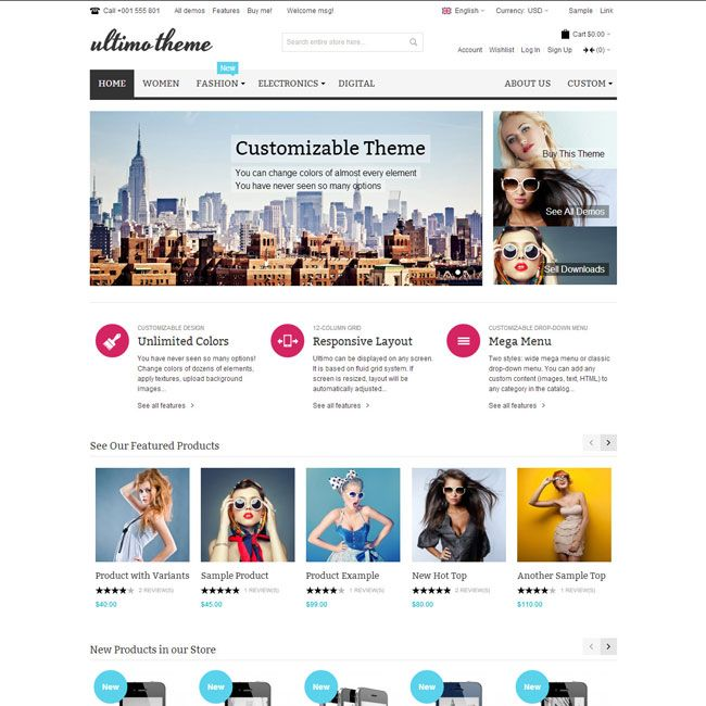 Ultimo Fluid Responsive Magento Theme | Just another WordPress site ...
