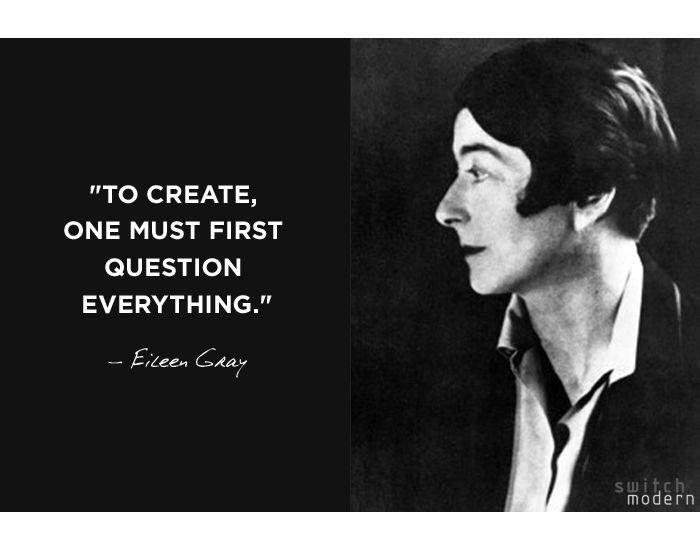 EILEEN GRAY 1878-1976: LACQUER ARTIST, ARCHITECT, FURNITURE & INTERIOR DESIGNER