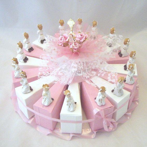 Gâteau avec 16 boites Un baptême une munion un