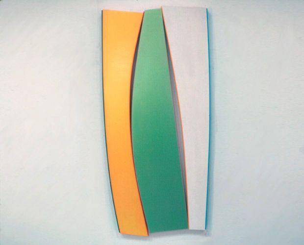 Kenneth Noland, Flares: Gentle Curves, 1990