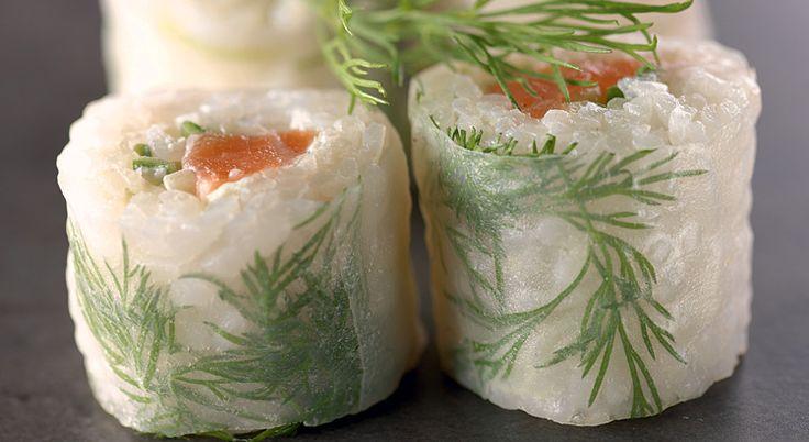 Recette de maki de saumon à l'aneth