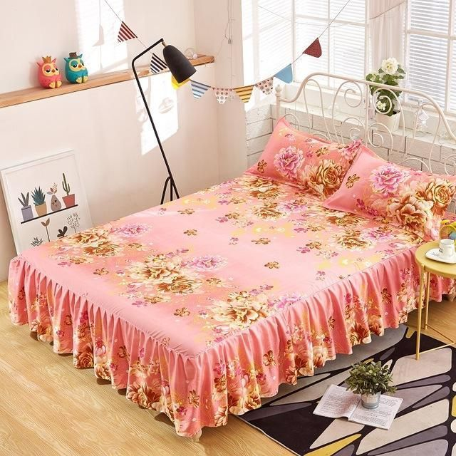 150cmx200cm Household Bedcover Floral Fitted Sheet Cover Bedspread