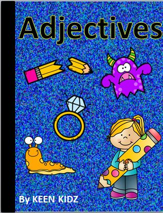 40 pages for adjective practise.  Suggestions for use:-  • As a whole class activity – students have a card each and think of an adjective to describe the object. • For writing sentences – students choose a card and complete the sentence using an adjective • Match the picture card to the 'best fit' adjective • Colour the pictures and write 4 adjectives to describe it. • Write sentences using adjectives to describe each photograph. Underline the adjectives. • As a literacy center, group or…