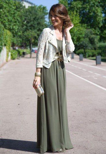 Vestido de verano con chaqueta de randa
