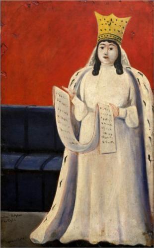 Queen Tamar of Georgia - Niko Pirosmani