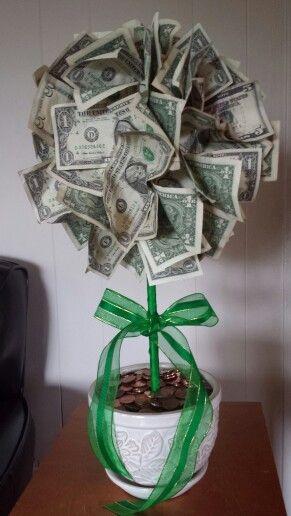 Money trees money and trees on pinterest for Homemade money box ideas