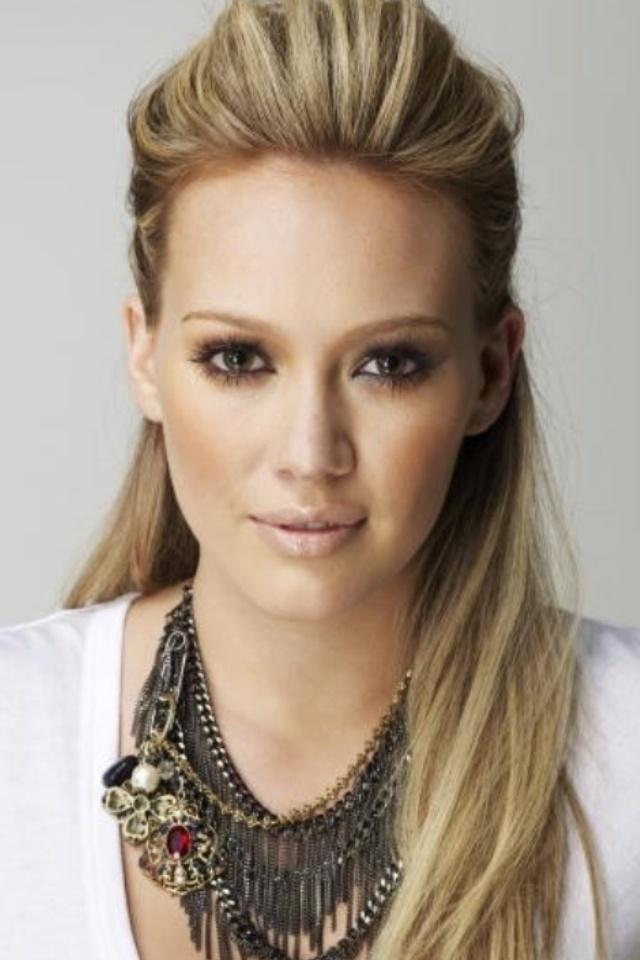 Melissa Cauchi Hairdressing Bridal Hair inspiration Hillary Duff's Sleek half-up hair