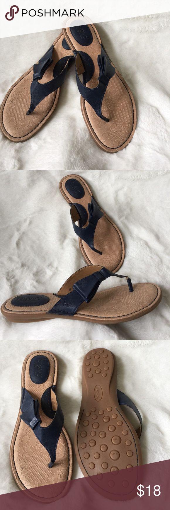 Navy sandals Navy flip flop sandals. Worn once. b.o.c. Shoes Sandals