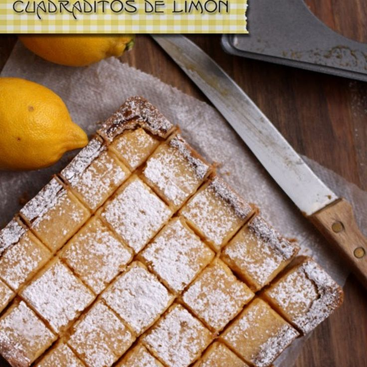 Cuadraditos de limón (Lemon Bars)